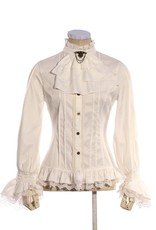 Western Fashion Steampunk Shirt with Ruffle Collar