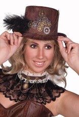 Western Fashion Steampunk Hat with gears & feather