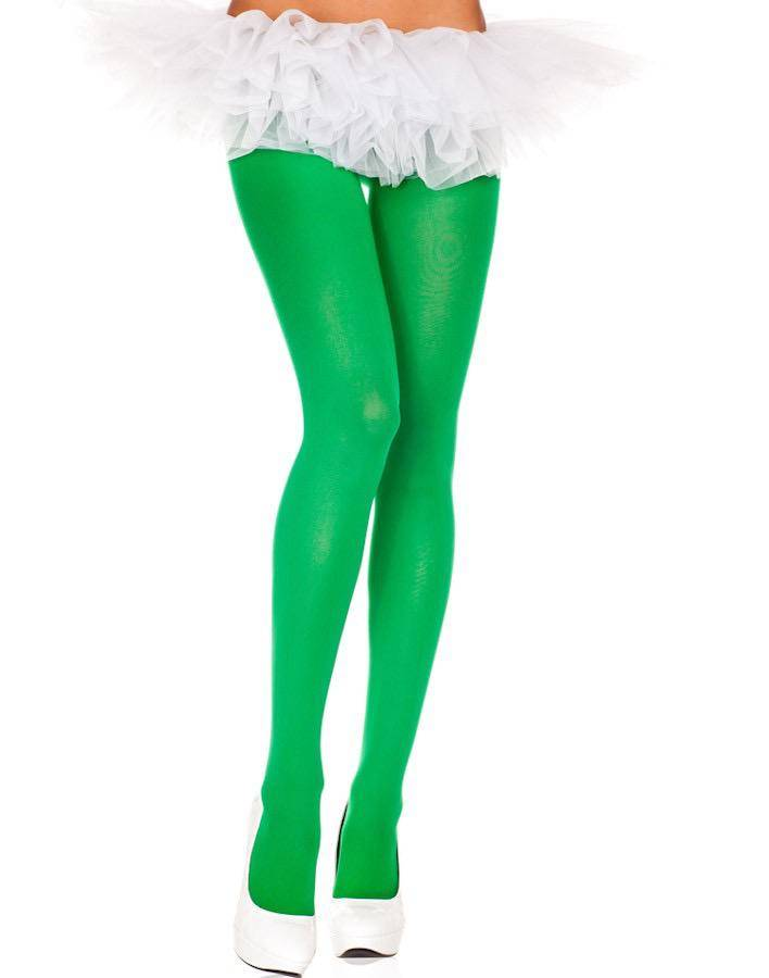 Music Legs Music Legs 747 Kelly Green Opaque Tights