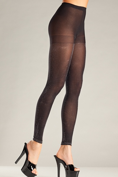 Be Wicked sparkly tights 697 Black o/s