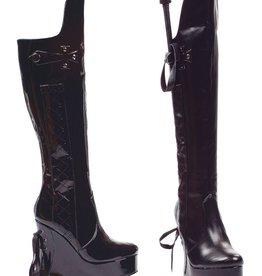 Ellie Shoes Ellie 475-Sadie 4.5 heel Booot with riding crop