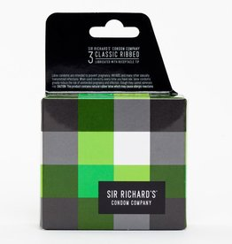 Sir Richard's Sir Richards Classic Ribbed Condoms 3 Pack