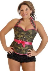 Daisy Corsets Camo Halter Pin-up Burlesque