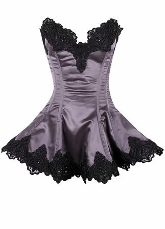Daisy Corsets Daisy Satin Beaded & Lace Corset Dress