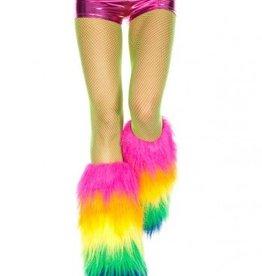 Music Legs Furry Rainbow Leg Warmers