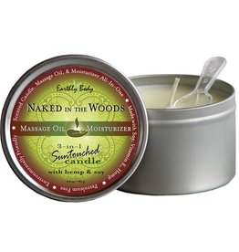 Earthly Body Hemp Seed 3 in 1 Massage Candle Naked In The Woods