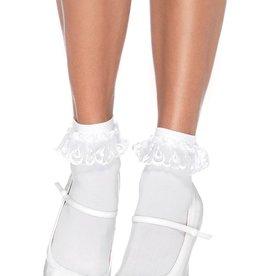 Leg Avenue Lace Ruffle Nylon Anklet