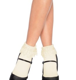 Leg Avenue Ankle Socks With Venice Lace