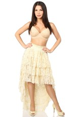 Daisy Corsets Lace Hi Low Skirt