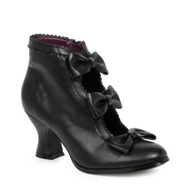 "Ellie Shoes 2.5"" Heel Bootie with Bows"