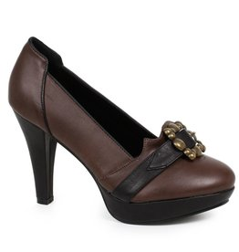 "Ellie Shoes 4"" Womens Pump with Buckle"