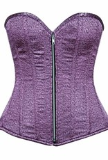 Daisy Corsets Top Drawer Two-Tone Lavender Brocade Steel Boned Overbust Corset