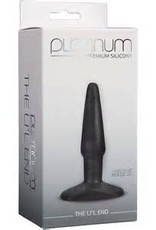 Doc Johnson Platinum Silicone The Li'l End Charcoal