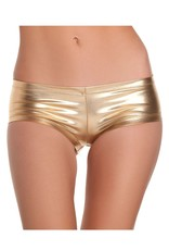 Be Wicked Gold Shiny Lycra Booty Shorts