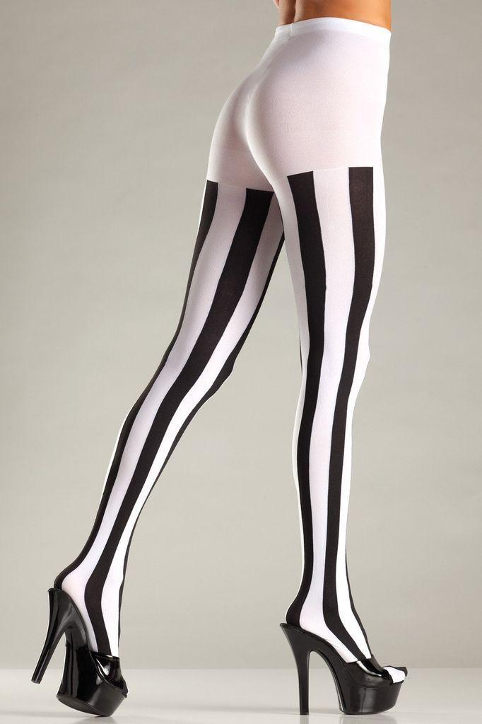 Be Wicked Opaque Vertical Stripe Tights