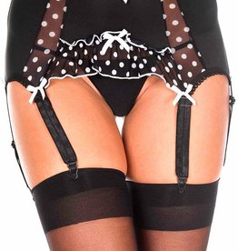 Music Legs Music Legs Polka DOt Mesh Garter Belt