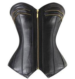 Adult Temptations Faux Leather Corset Zipper detail