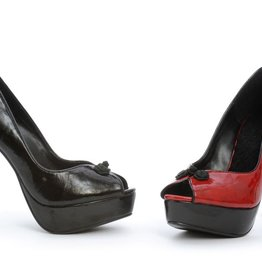 Ellie Shoes Ellie 523-Greta Red 6 Peeptoe Pump With 2 Platform