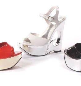 Ellie Shoes Ellie 621-Dina Gold  6 Wedge Heel Sandal