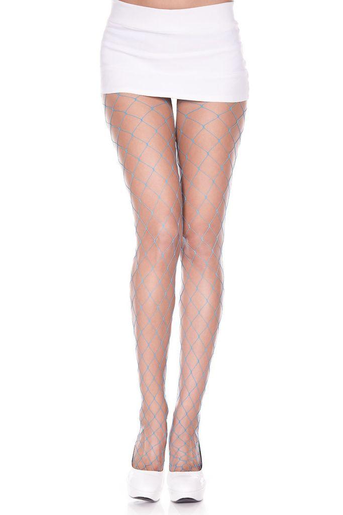 Music Legs Music Legs 9024 Big Diamond Net Hose Blue