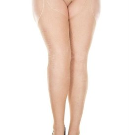 Music Legs Music Legs 903Q Suspender Fishnet Nude