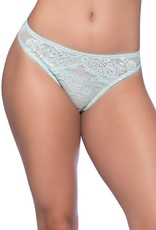 Real Lingerie Blue Glow Lace Thong