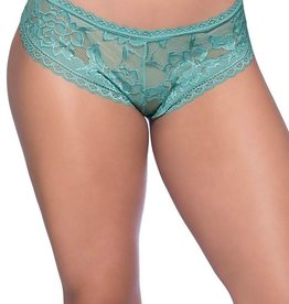 Real Lingerie Dusty Turquoise Lace Booty Short