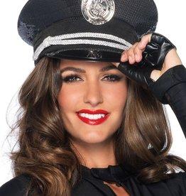 Leg Avenue Leg Ave Sequin Cop Hat