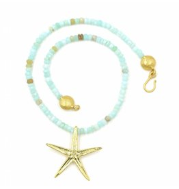 Starfish Pendant Necklace - Vermeil (Large)