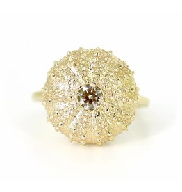 Sea Urchin Ring - 14K Gold (1/2K Diamond)