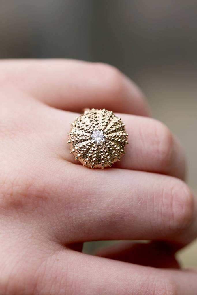 Sea Urchin Ring - 14K Gold (1/2 ct Diamond)