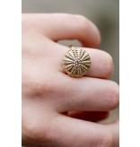 Sea Urchin Ring - 14K Gold (1/2K Diamond)