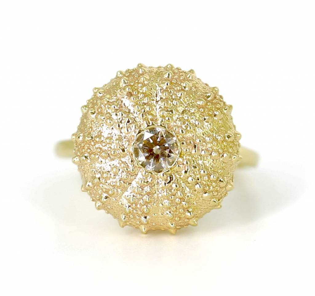 Sea Urchin Ring - Vermeil (CZ)