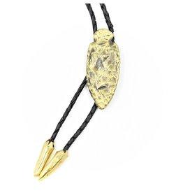 Arrowhead Bolo - Antiqued Brass