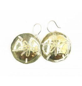 Sand Dollar Earrings - Tumbaga