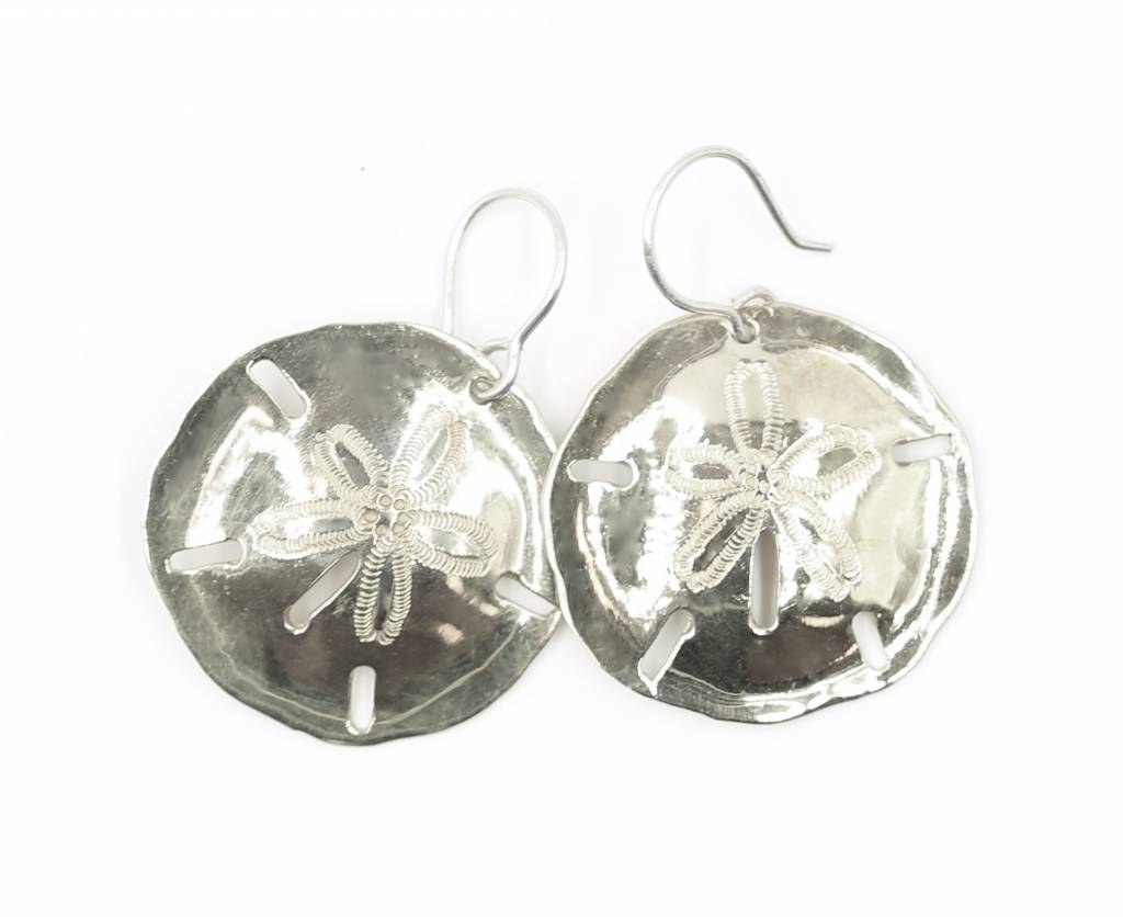 Sand Dollar Earrings - Alpaca