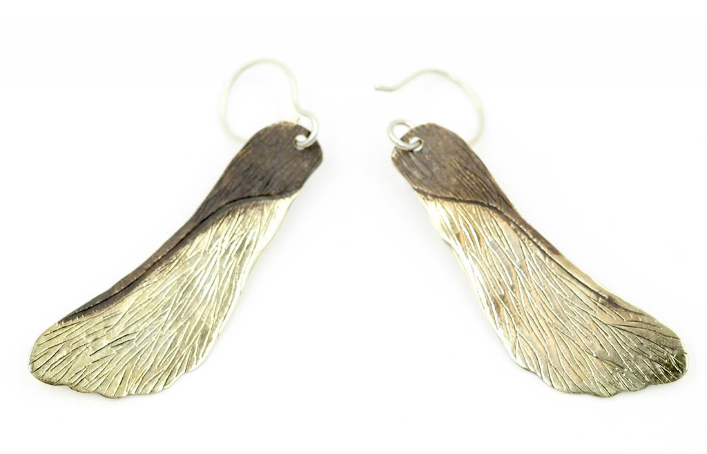 Maple Seed Pod Earrings - Alpaca