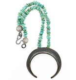 Boars Tusk Pendant Necklace - Alpaca (Small) - Oxidized