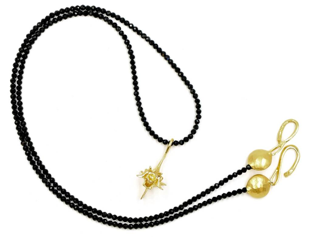 Rattlesnake Vertebrae Pendant Necklace - Vermeil (Large) - Opera