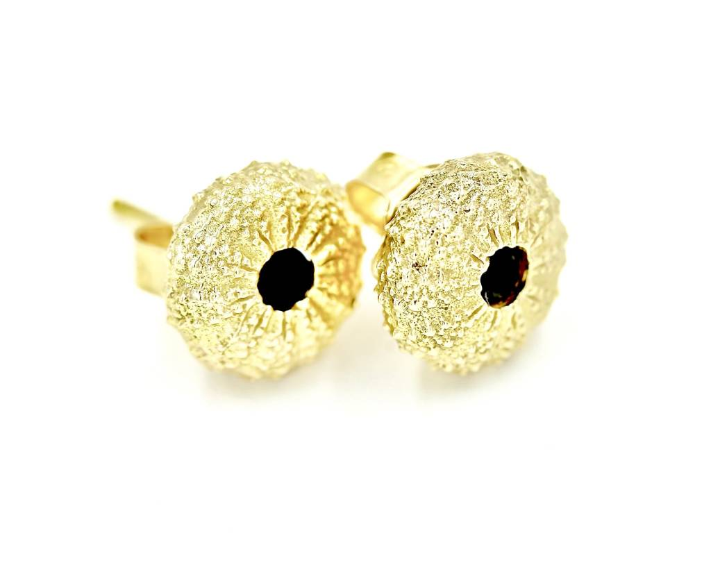 Sea Urchin Earrings - Vermeil - Small (Black Onyx)