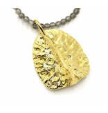 Alligator Scute Pendant Necklace - Vermeil (Large)