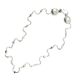 Worm Encasement Necklace - Sterling Silver