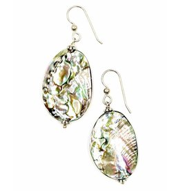 Abalone Drop Earrings -  (Post/Wire) - Small
