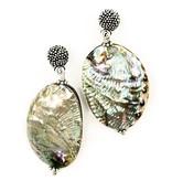 Abalone Drop Earrings -  (Post/Wire)