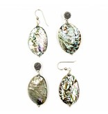 Abalone Drop Earrings - Small (Post/Wire)
