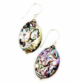 Abalone Drop Earrings - Sterling Silver/ Vermeil (Large)