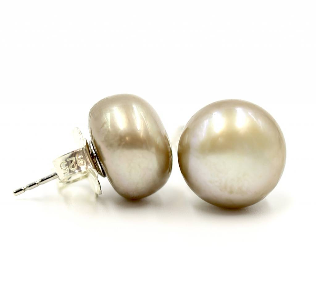 Pearl Stud Earrings - Large