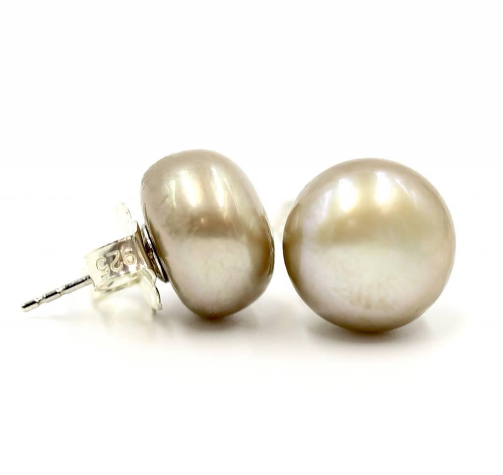 Pearl Stud Earrings - Large