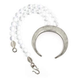 Boars Tusk Pendant Necklace - Alpaca (Small) - Matte