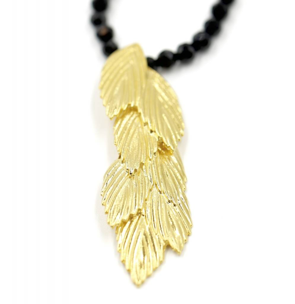 Sea Oats Pendant Necklace - Vermeil